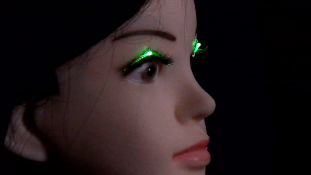 vídeos y material grabado en eventos de stock de for those really wanting to light up a room and make their eyes pop wireless lightemitting diode false eyelashes are in the foreseeable future... - pestaña