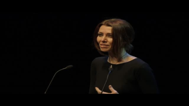 vídeos y material grabado en eventos de stock de for world book night 2013 at the queen elizabeth hall in london turkish writer elif shafak read from her book the 40 rules of love - 2013