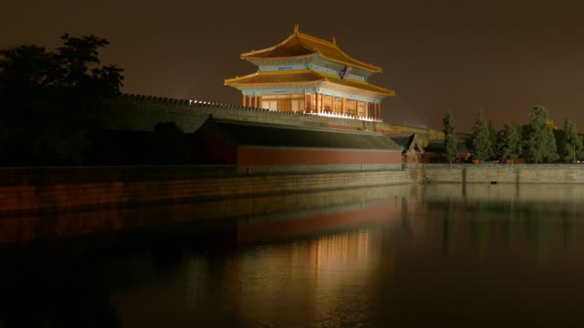 forbidden city at night, beijing, china - forbidden city stock videos & royalty-free footage