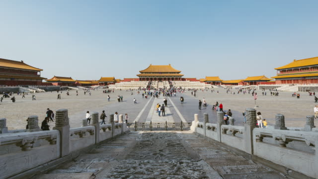 t/l ws forbidden city / beijing, china - pechino video stock e b–roll