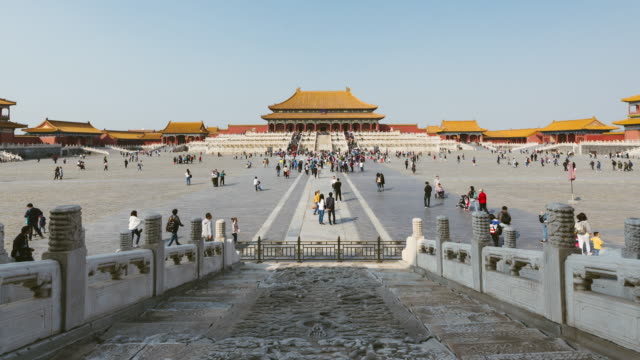 t/l tu forbidden city, beijing, china - beijing stock videos & royalty-free footage