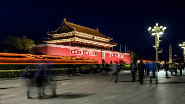 forbidden city entrance - tiananmen square stock videos and b-roll footage