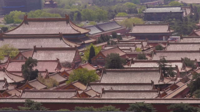 forbidden city, hall of clocks and watches, rooftops, beijing, china - 2013 stock videos & royalty-free footage