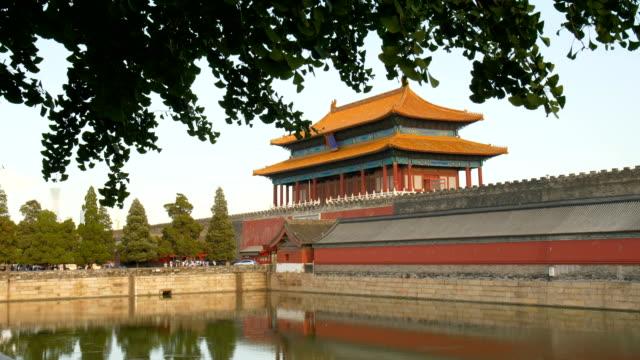 紫禁城、北京、中国 - 堀点の映像素材/bロール