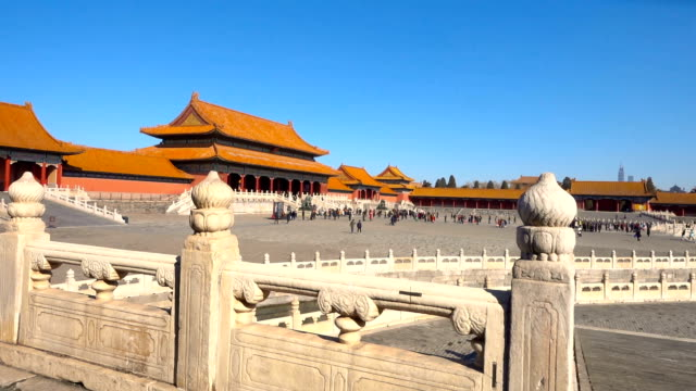forbidden city in beijing,china - unesco world heritage site stock videos & royalty-free footage