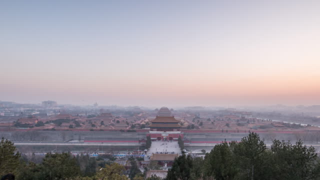 T/L Forbidden City Overlook Day to Night / Beijing, China