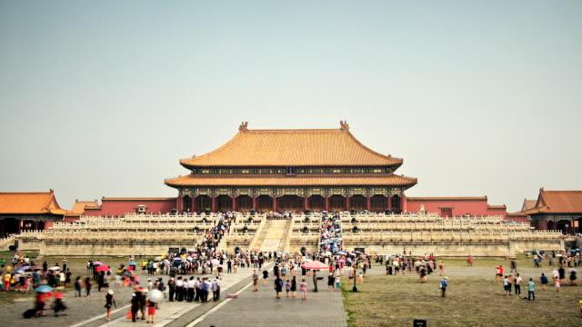vídeos de stock e filmes b-roll de palácio proibida hd timelapse. pequim. a china - palace