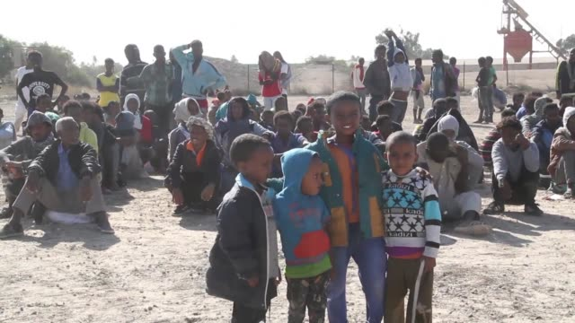 a force allied with libya's unity government in the people smuggling hub of sabratha has detained more than 3000 migrants a security official said on... - libya stock videos and b-roll footage