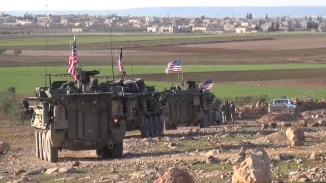 US forces are patrolling around the town of Manjib in northern Syria after fighting intensified in the region following the capture of the city of...