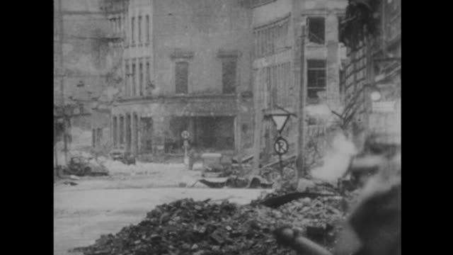 us forces capture cologne - 1945 stock-videos und b-roll-filmmaterial