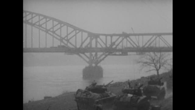 us forces capture the bridge at remagen - drittes reich stock-videos und b-roll-filmmaterial