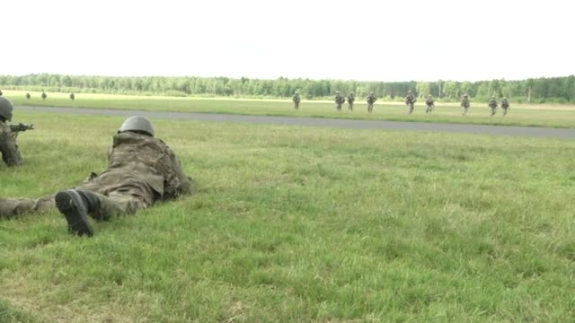Forces from Poland Canada and The United States participated in a combined exercise to secure and hold an airfield in DrawskowPomorskie Poland on...