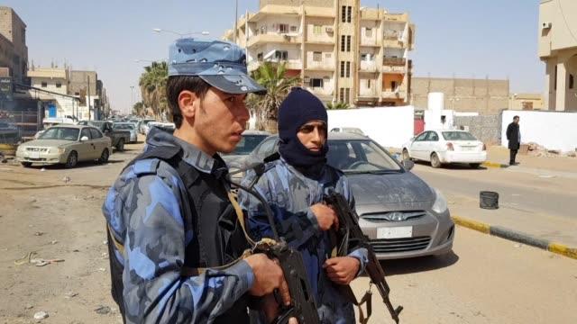 forces loyal to libyan strongman khalifa haftar patrol in downtown sebha the biggest city in southern libya - strongman stock videos & royalty-free footage