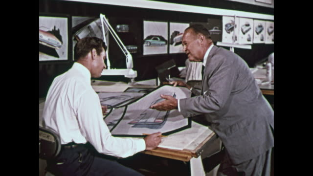 1959 ford designers and stylists montage - ford motor company stock videos & royalty-free footage