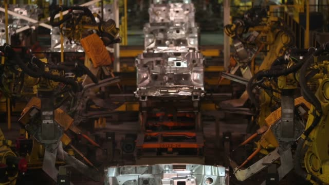 ford escape sports utility vehicles are assembled at the ford motor co louisville assembly plant in louisville kentucky us on tuesday april 28 2015... - ford motor company stock videos and b-roll footage