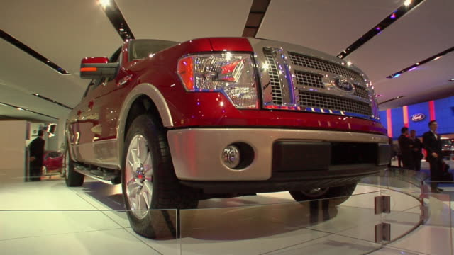 MS Ford F-150 rotates on turntable at Detroit Auto Show/ Detroit, Michigan
