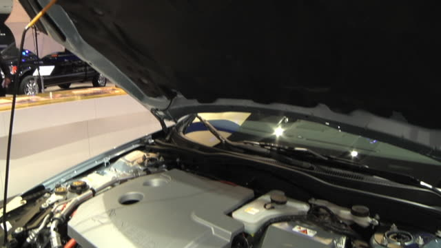 CU TD Ford Fusion Hybrid's engine compartment on display at 2010 Detroit Auto Show / Detroit, Michigan, USA