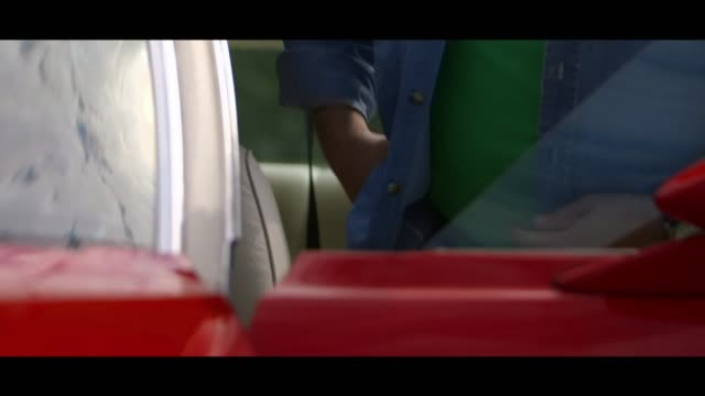 ford gran torino - entering vehicle - matte stock videos & royalty-free footage