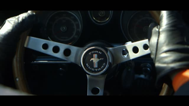 ford mustang - dashboard - matte image technique stock videos & royalty-free footage