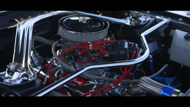 ford mustang fastback - engine - engine stock videos & royalty-free footage