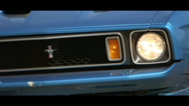 ford mustang - headlights - bonnet stock videos & royalty-free footage