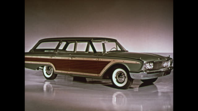 1960 ford station wagons montage - 1950 1959 stock videos & royalty-free footage