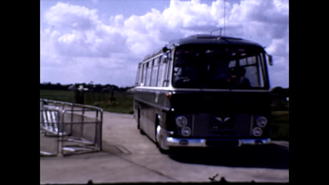 a ford thames 676e duple marauder 56 seat coach 1965 - 1965 stock videos & royalty-free footage