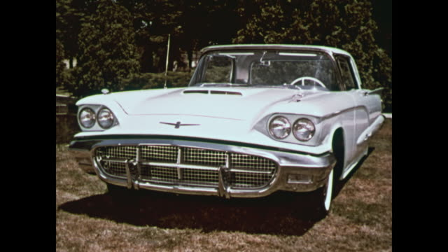 1960 ford thunderbird montage - old convertible stock videos & royalty-free footage