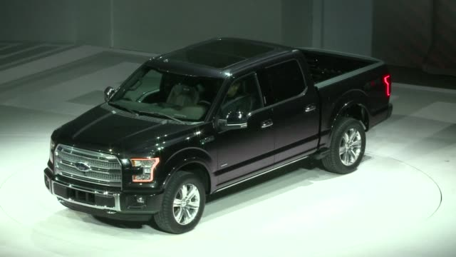 ford took a big gamble monday with its bestselling f150 pickup truck radically redressing the workhorse with lightweight aluminum body panels to cut... - ford truck stock videos and b-roll footage
