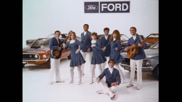 1969 ford tv commercial:  the going thing (showroom) - advertisement stock videos & royalty-free footage