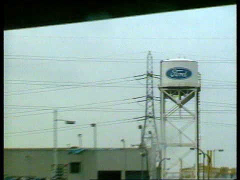 dagenham ford sign ext ford assembly plant - dagenham stock videos & royalty-free footage