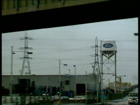 dagenham ford sign ext ford assembly plant` - dagenham stock videos & royalty-free footage