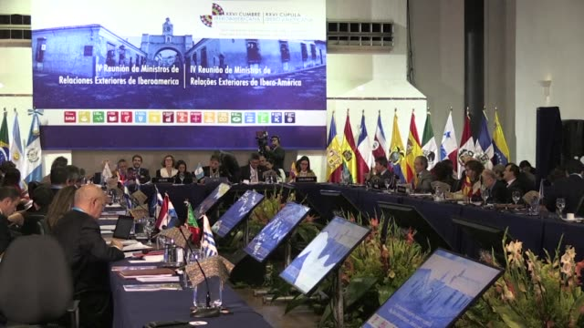 Foreign Affairs ministers from Europe and Latin America meet at the XXVI Ibero American Summit in Antigua Guatemala