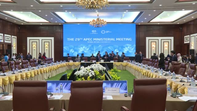 foreign and trade ministers from across the asia pacific region meet in danang vietnamb for the apec ministerial meeting - summit meeting stock videos and b-roll footage