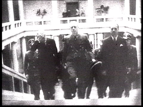 foreign minister in hitler's government ribbentrop getting out of plane molotov–ribbentrop pact molotov and ribbentrop shaking hands molotov signing... - vyacheslav m. molotov stock videos and b-roll footage