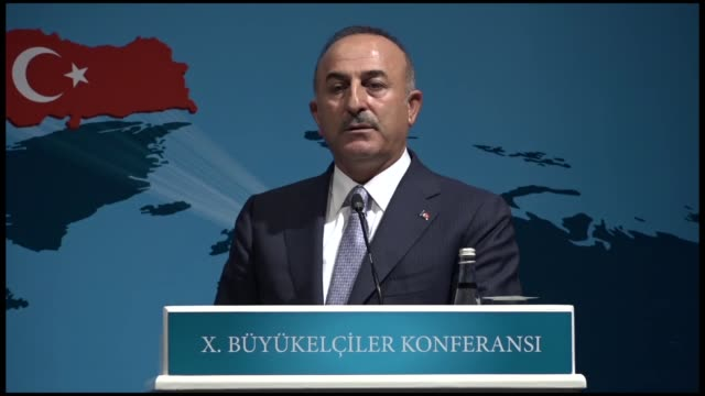 foreign minister mevlut cavusoglu on thursday reiterated his criticism of us's current political stance against turkey the us does not know it cannot... - minister clergy stock videos and b-roll footage