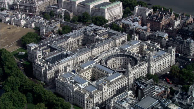 foreign office  - aerial view - england, greater london, city of westminster, united kingdom - downing street stock videos & royalty-free footage
