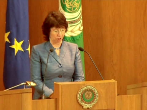 stockvideo's en b-roll-footage met eu foreign policy chief catherine ashton said on monday that israel's decision to build new settler homes in east jerusalem endangers indirect talks... - oost jeruzalem