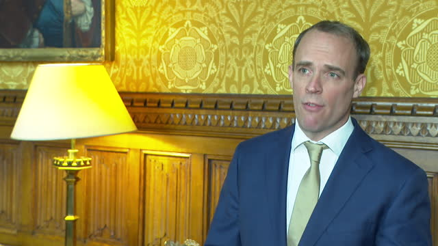 foreign secretary dominic raab saying his heart is with the parents of harry dunn and that he believes anne sacoolas should return to the uk to face... - the americas stock videos & royalty-free footage