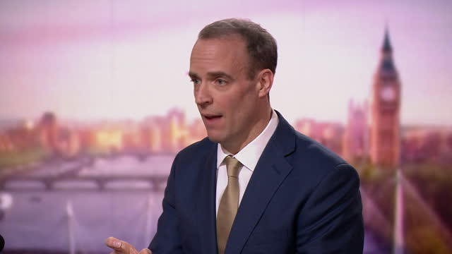 "foreign secretary dominic raab saying ""political will"" is the most important thing in brexit negotiations - focus concept stock videos & royalty-free footage"