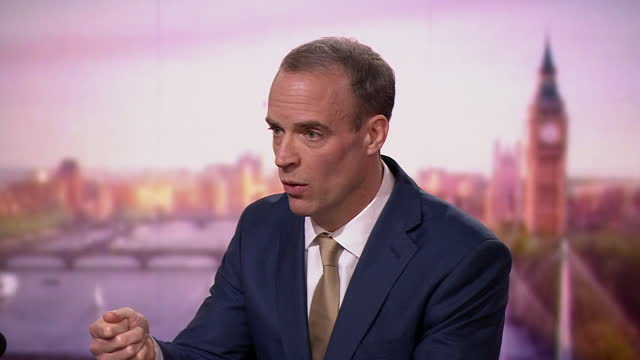 foreign secretary dominic raab saying the uk will adhere to international law if navy ships are deployed to protect british fisheries after a no deal... - british military stock videos & royalty-free footage