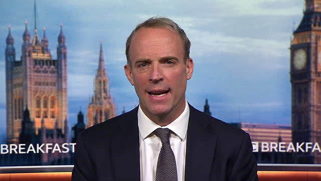 """foreign secretary dominic raab saying """"we will use all the levers at our disposal to exercise maximum moderating influence on the taliban"""" - machine part stock videos & royalty-free footage"""