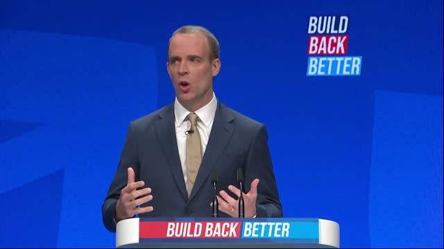 foreign secretary dominic raab talking about sobriety tags - party social event stock videos & royalty-free footage