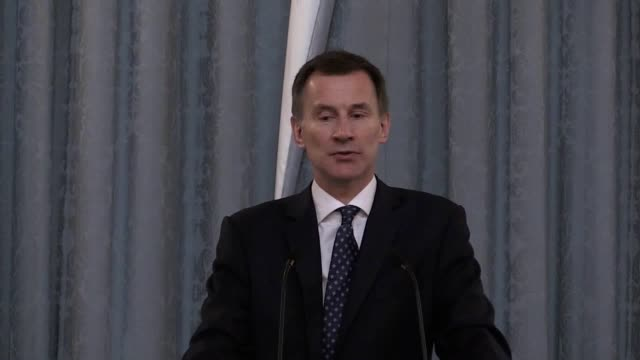 Foreign Secretary Jeremy Hunt makes a keynote speech and unveils a bust of Frank Foley alongside a Holocaust survivor at the annual Holocaust...