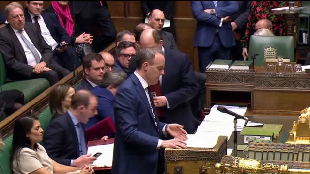 foreign secretary's statement on huawei, given in the house of commons on tuesday afternoon. foreign secretary dominic raab said the government's... - house of commons stock videos & royalty-free footage