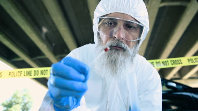 forensic scientist working at crime scene - criminal investigation stock videos & royalty-free footage