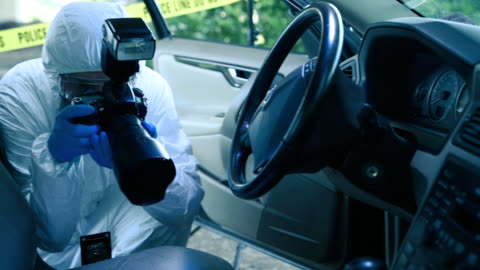 forensic scientist working at crime scene - plastic bag stock videos & royalty-free footage