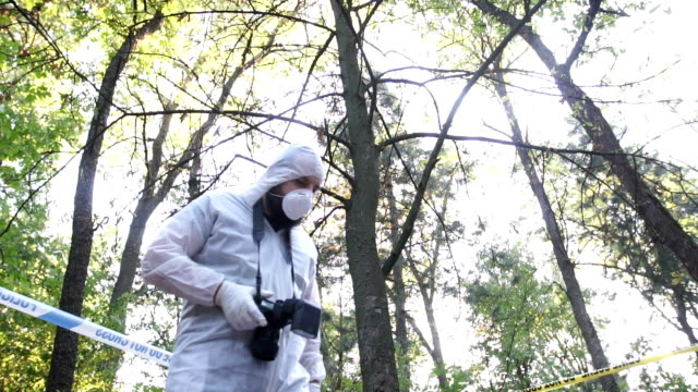 forensics at the crime scene - photography themes stock videos & royalty-free footage