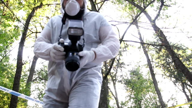 forensics at the murder scene - forensic science stock videos & royalty-free footage