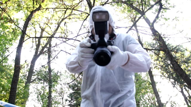 forensics man working - forensic science stock videos & royalty-free footage
